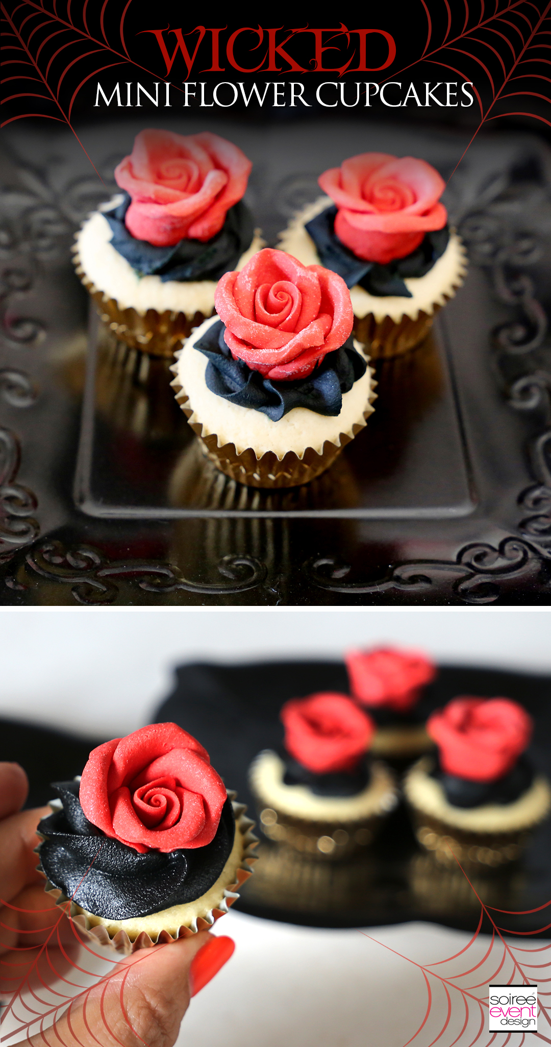 Wicked Mini Flower Cupcakes recipe