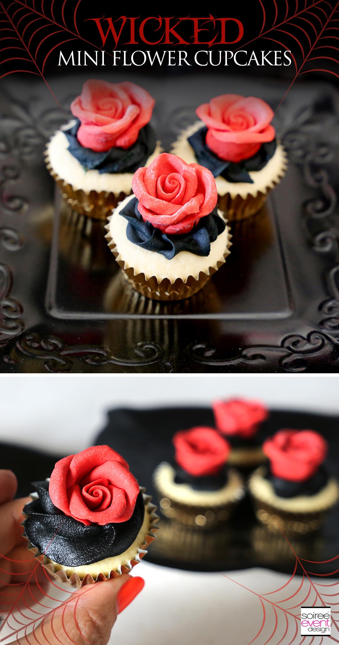 Wicked Mini Flower Cupcakes recipe