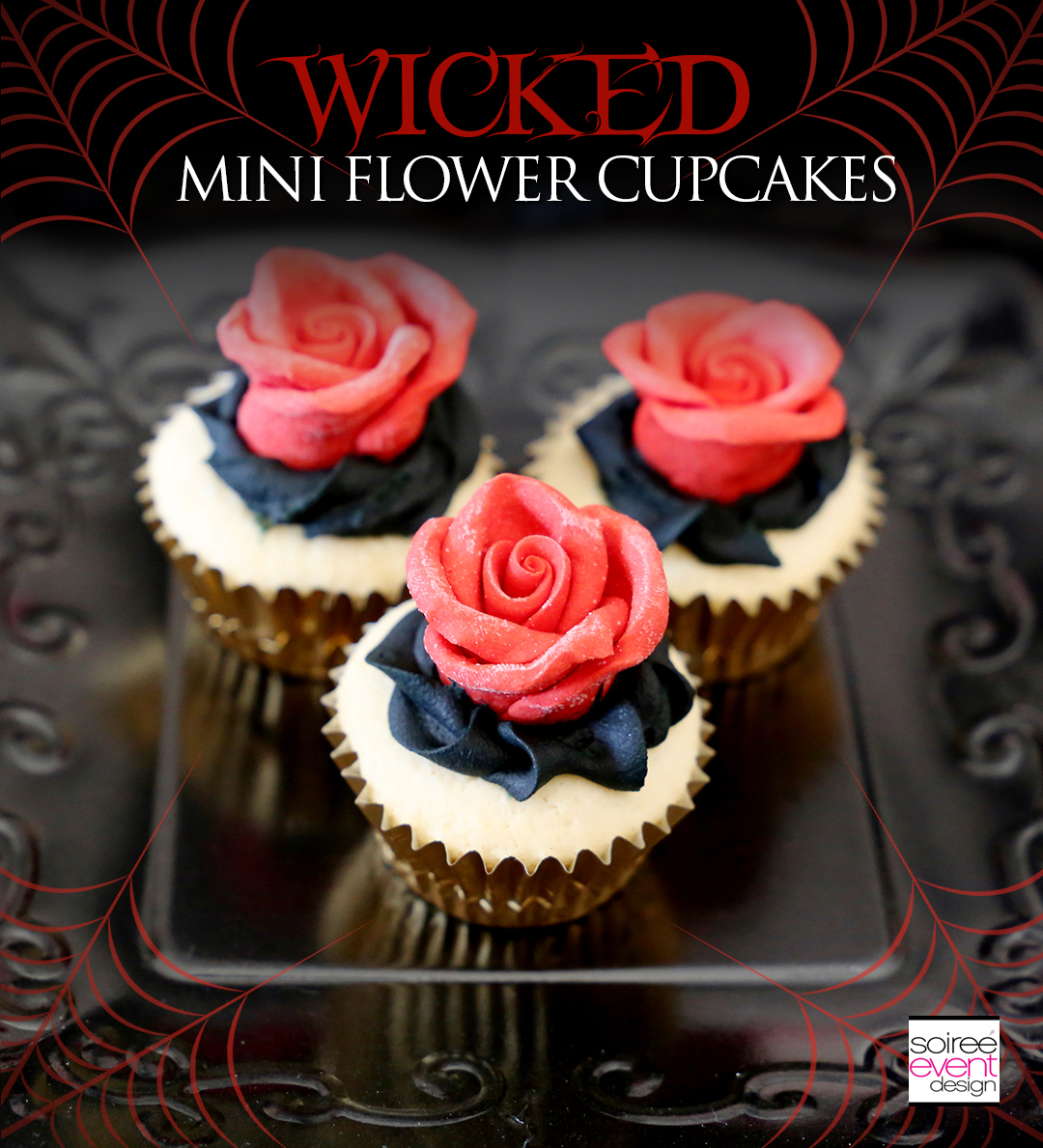 Wicked Mini Flower Cupcakes
