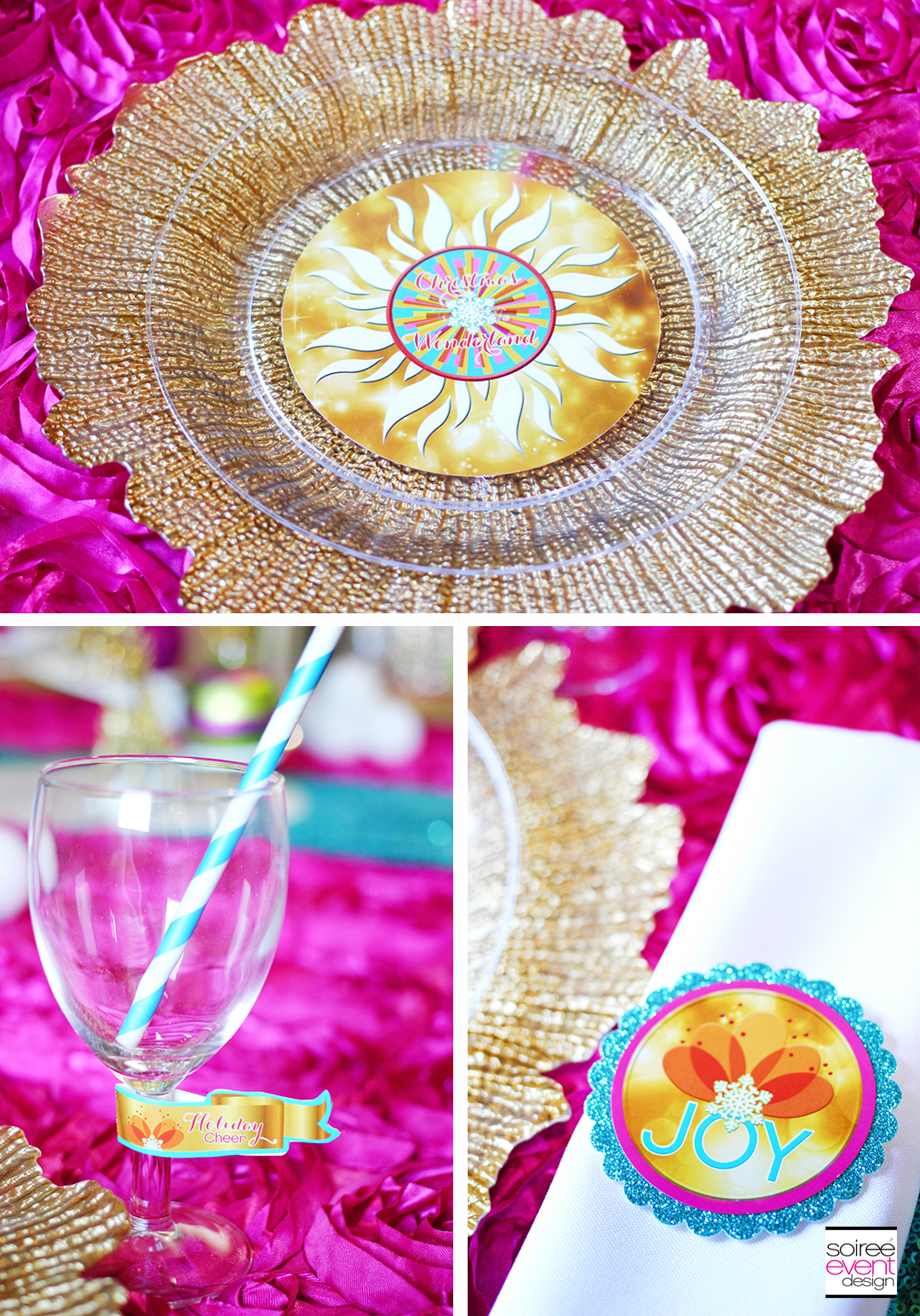 Bright Christmas Party Printables