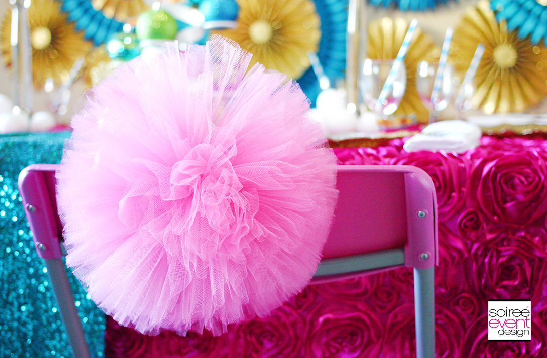 Bright Christmas Party Tulle Chairbackers