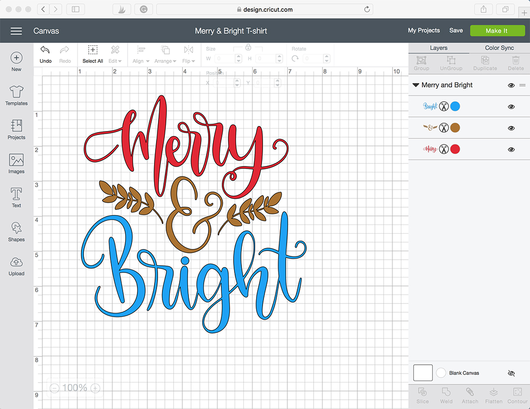 Cricut Design Space - Merry and Bright T-shirt
