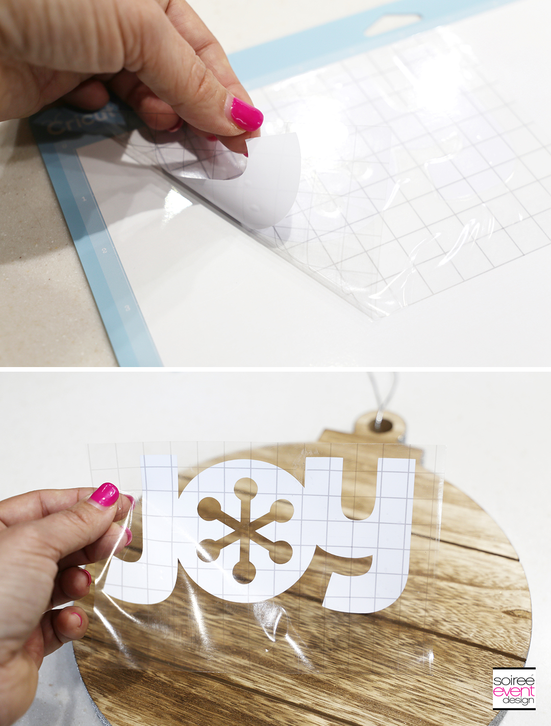 Cricut Farmhouse Holiday Decorations - Step 3C
