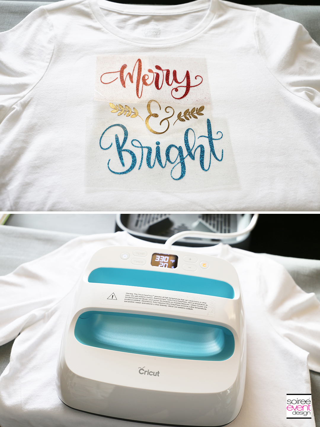 Cricut Merry and Bright T-Shirts - Step 5A