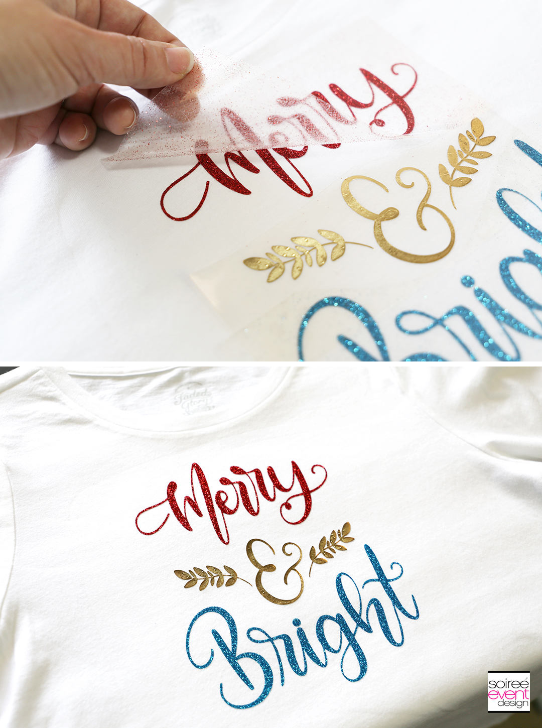 Cricut Merry and Bright T-Shirts - Step 6