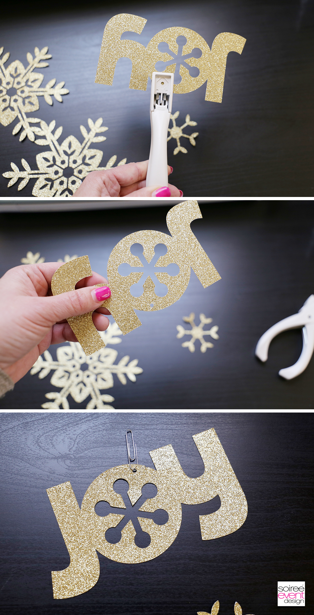 Cricut Paper Christmas Tree Decorations-9