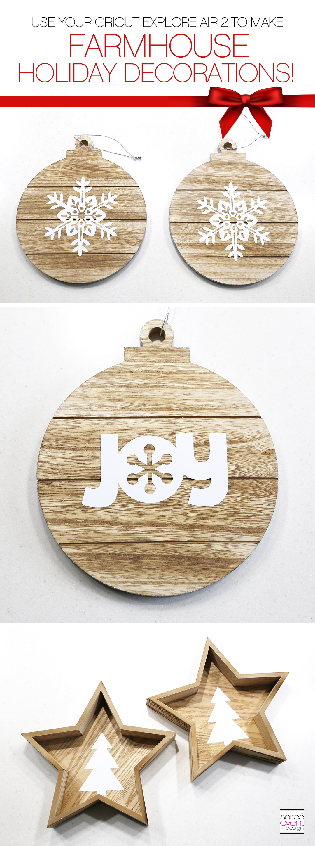 DIY Cricut Farmhouse Holiday Decorations