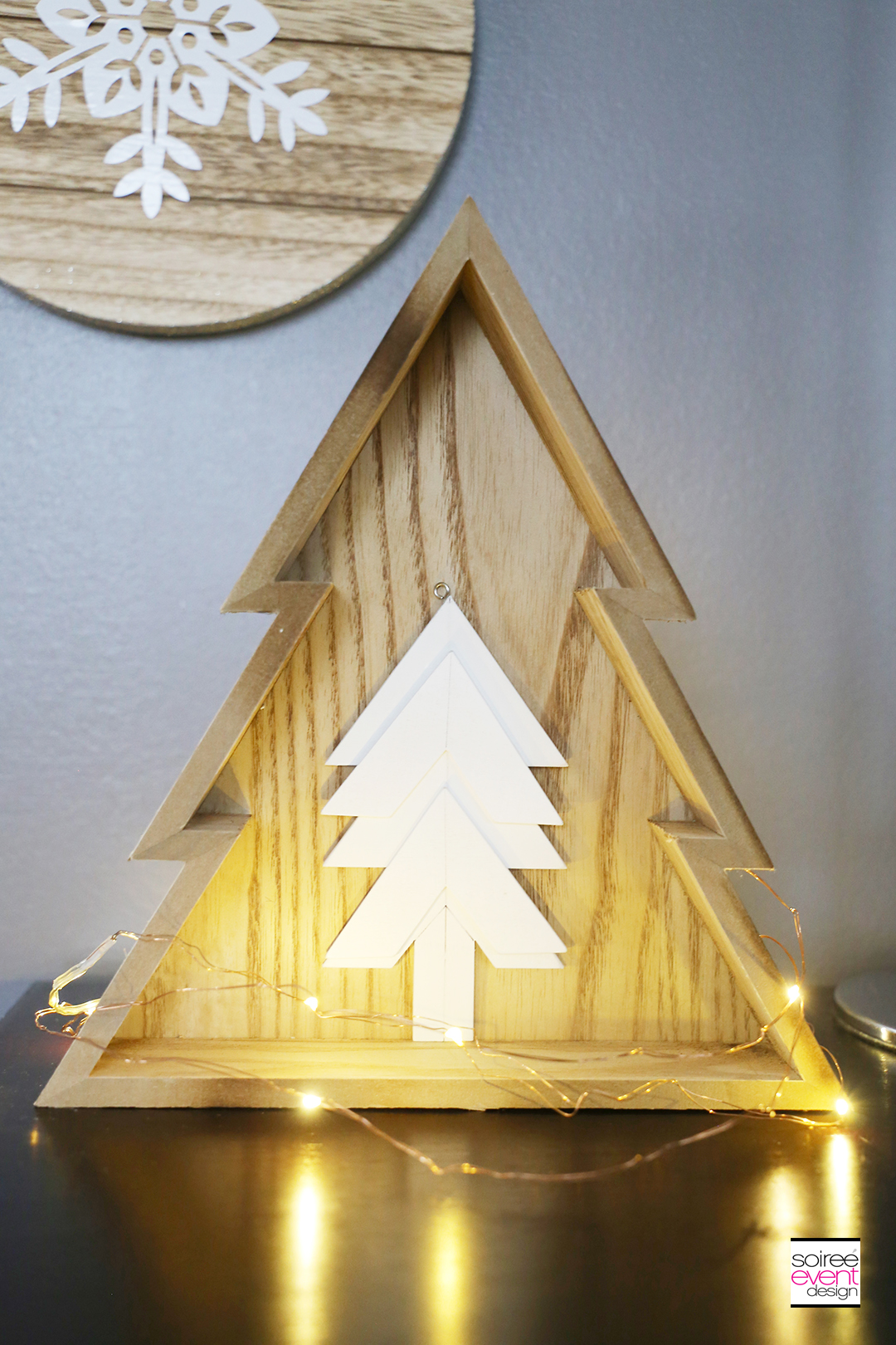 Farmhouse Holiday Decor - Wood Trees