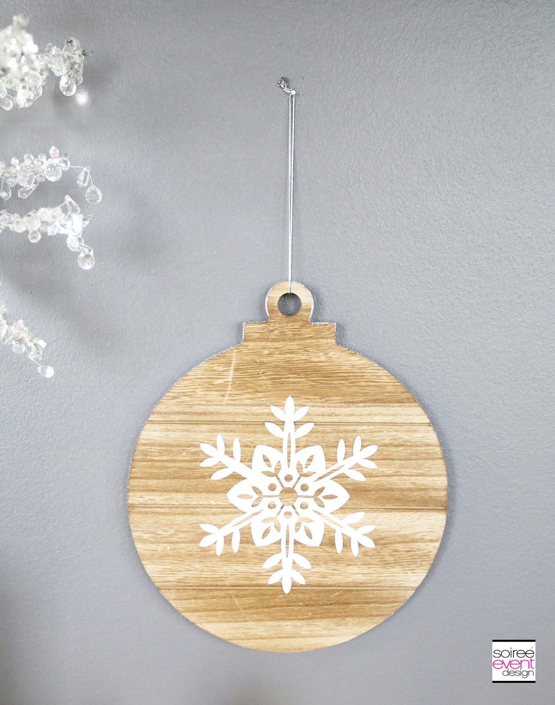 Farmhouse Holiday Snowflake Ornament
