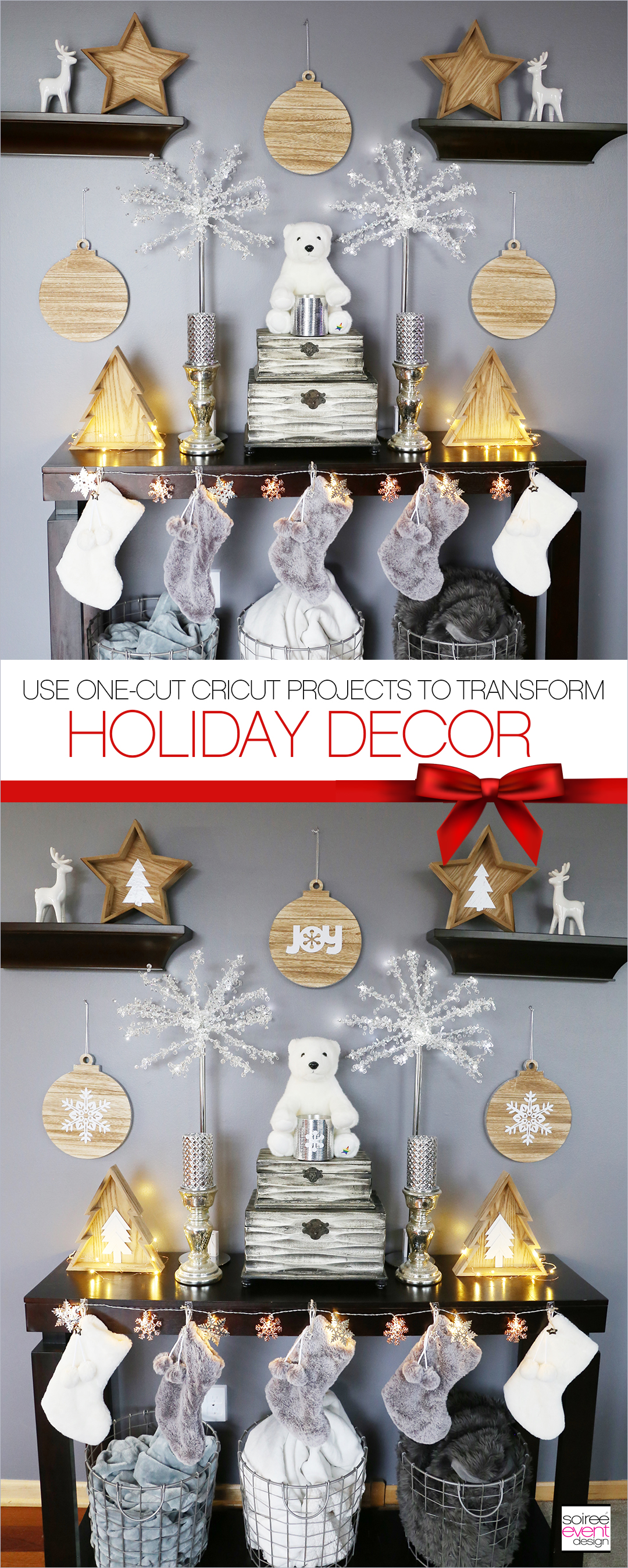 Make Farmhouse Holiday Decorations with Cricut