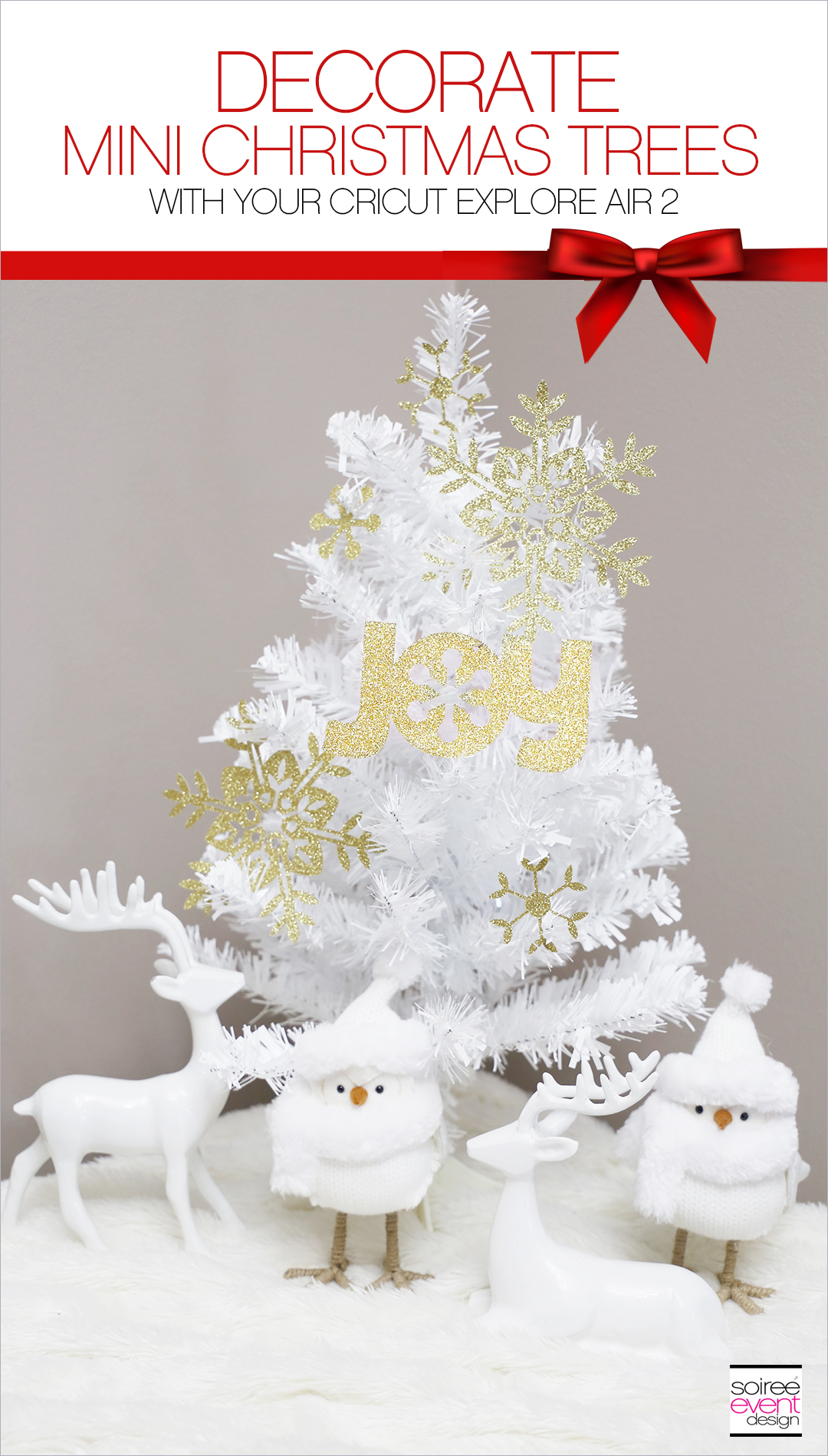 Make Paper Christmas Tree Decorations with Cricut