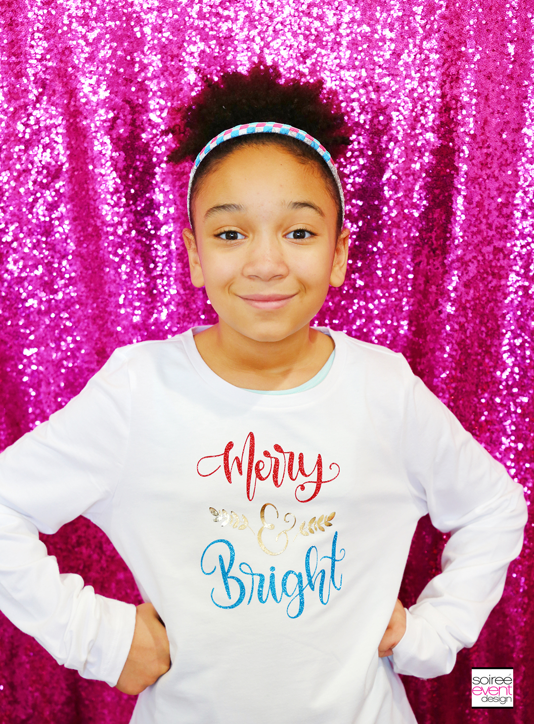 Merry and Bright Tshirt with Cricut