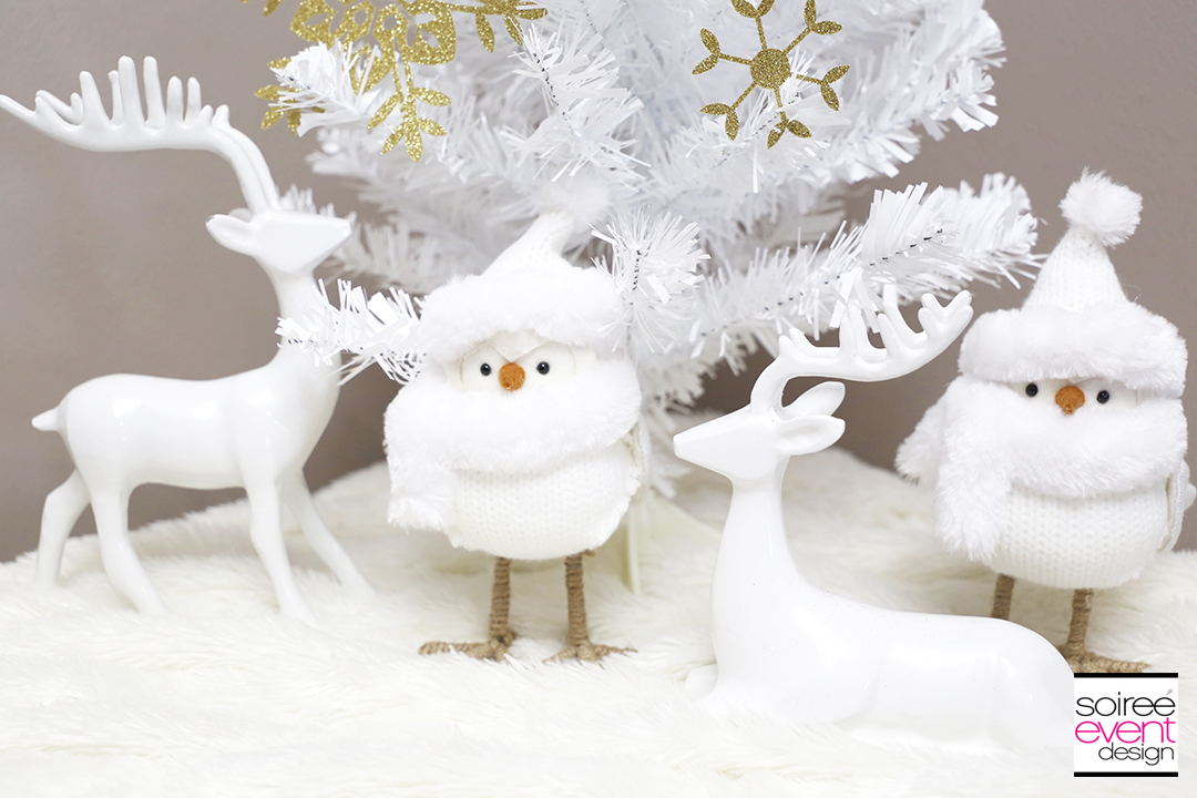 white reindeer christmas decorations