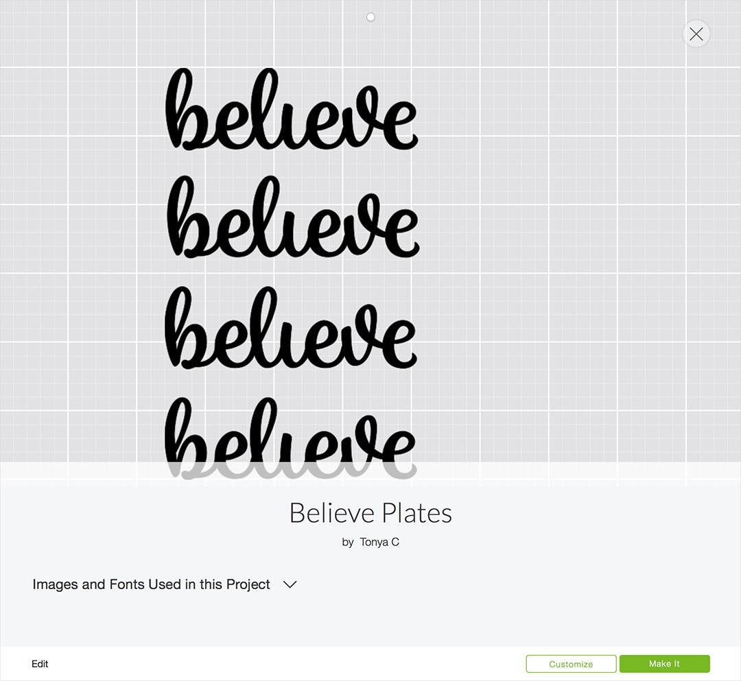 Believe Plates Project