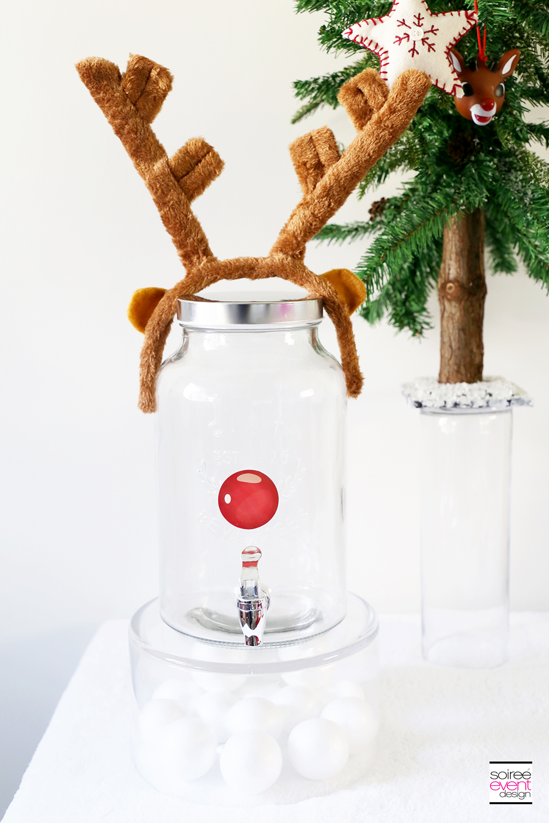 DIY Rudolph Party Drink Dispenser