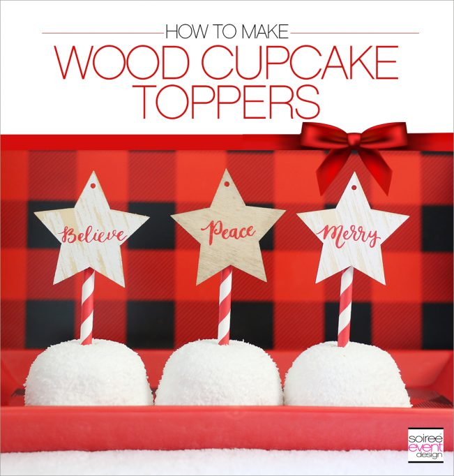 DIY Wood Cupcake Toppers