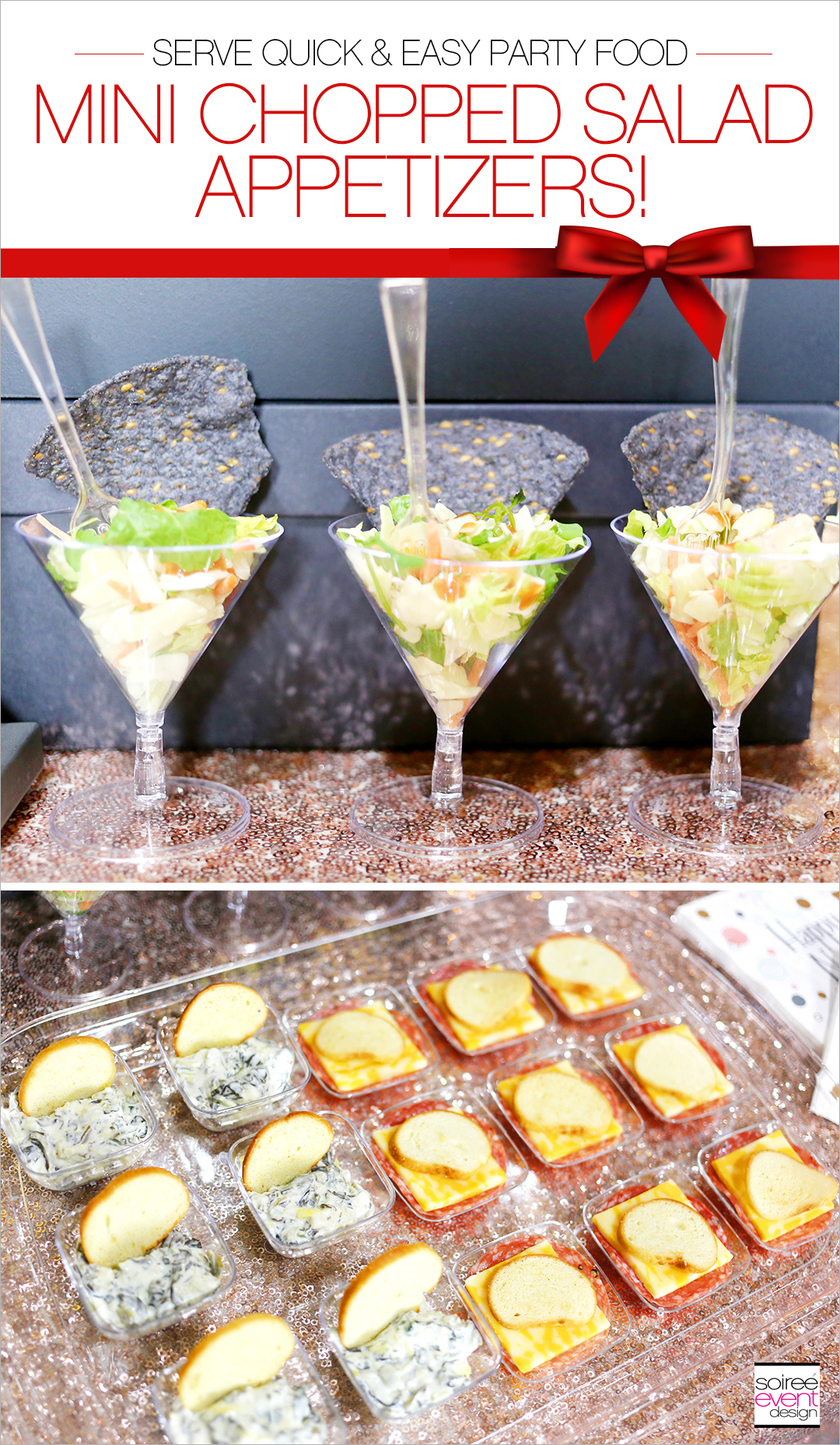 Mini Chopped Salad Appetizers