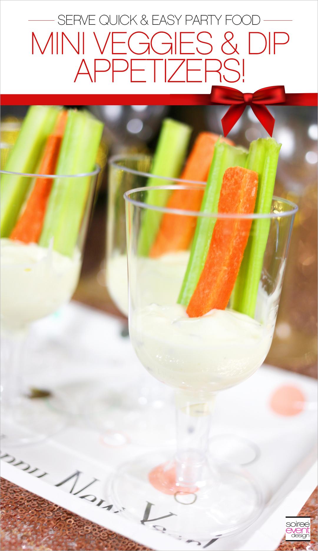 Mini Veggies and Dip Appetizers