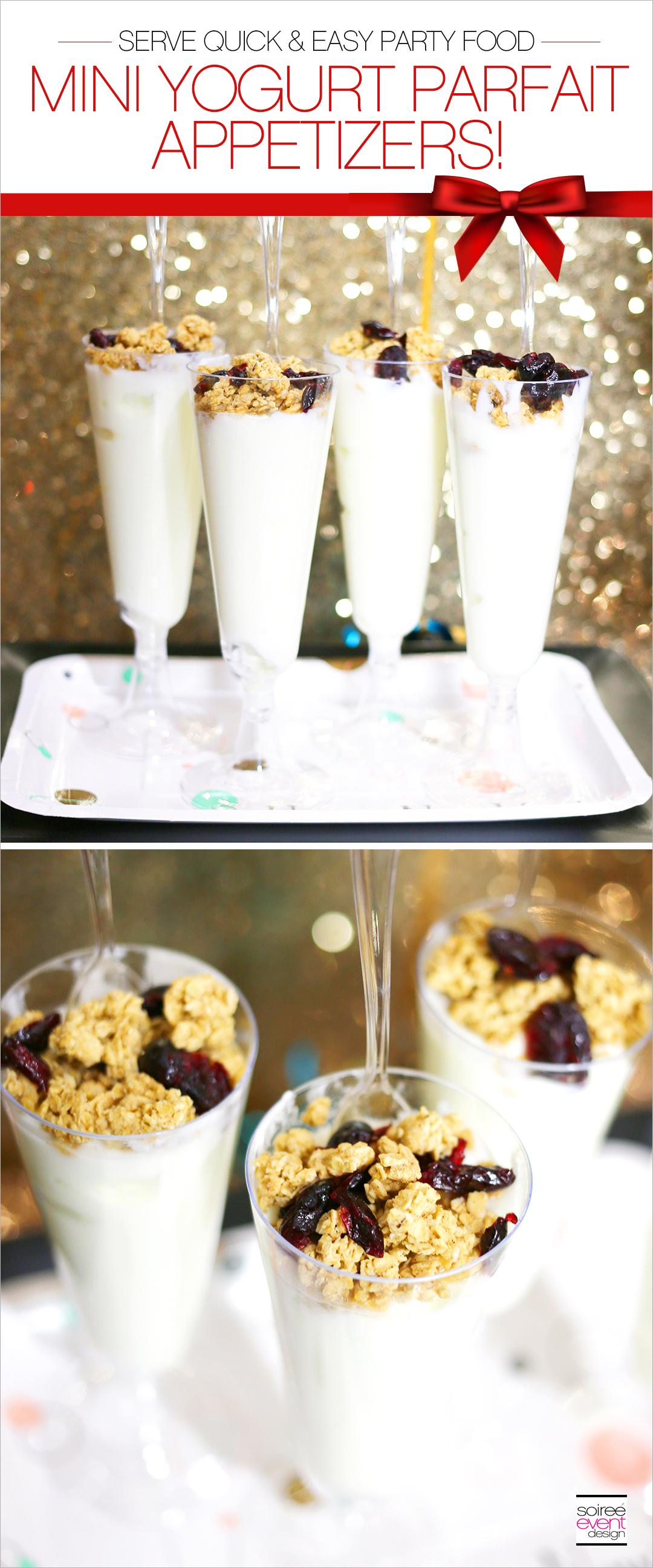 Mini Yogurt Parfait Appetizers