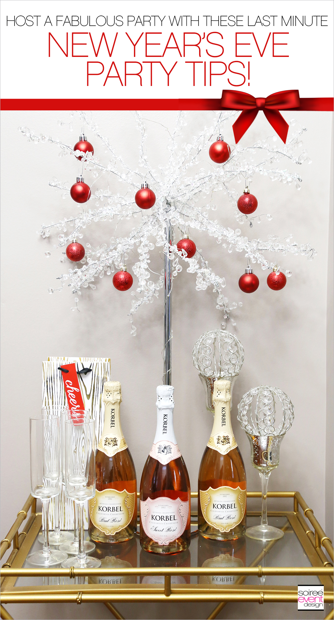 New Years Eve Party Tips - Bubbly Bar