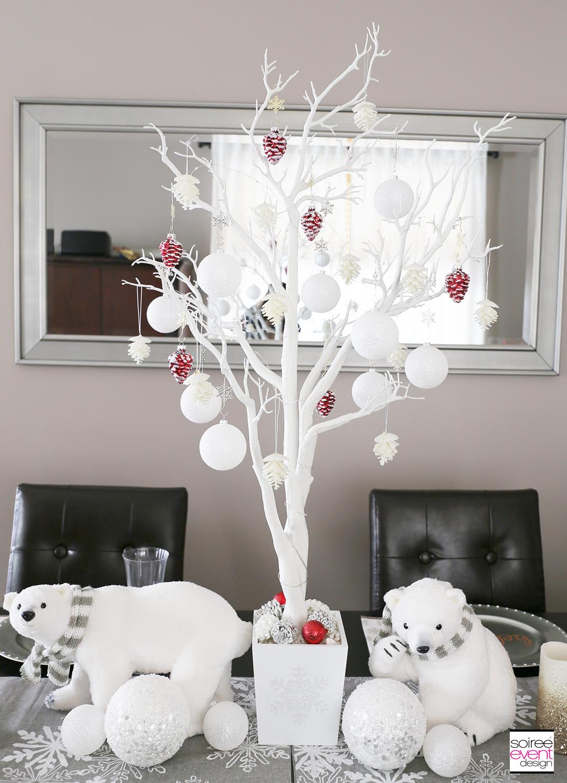 Personalized Christmas Tablescape - Centerpiece