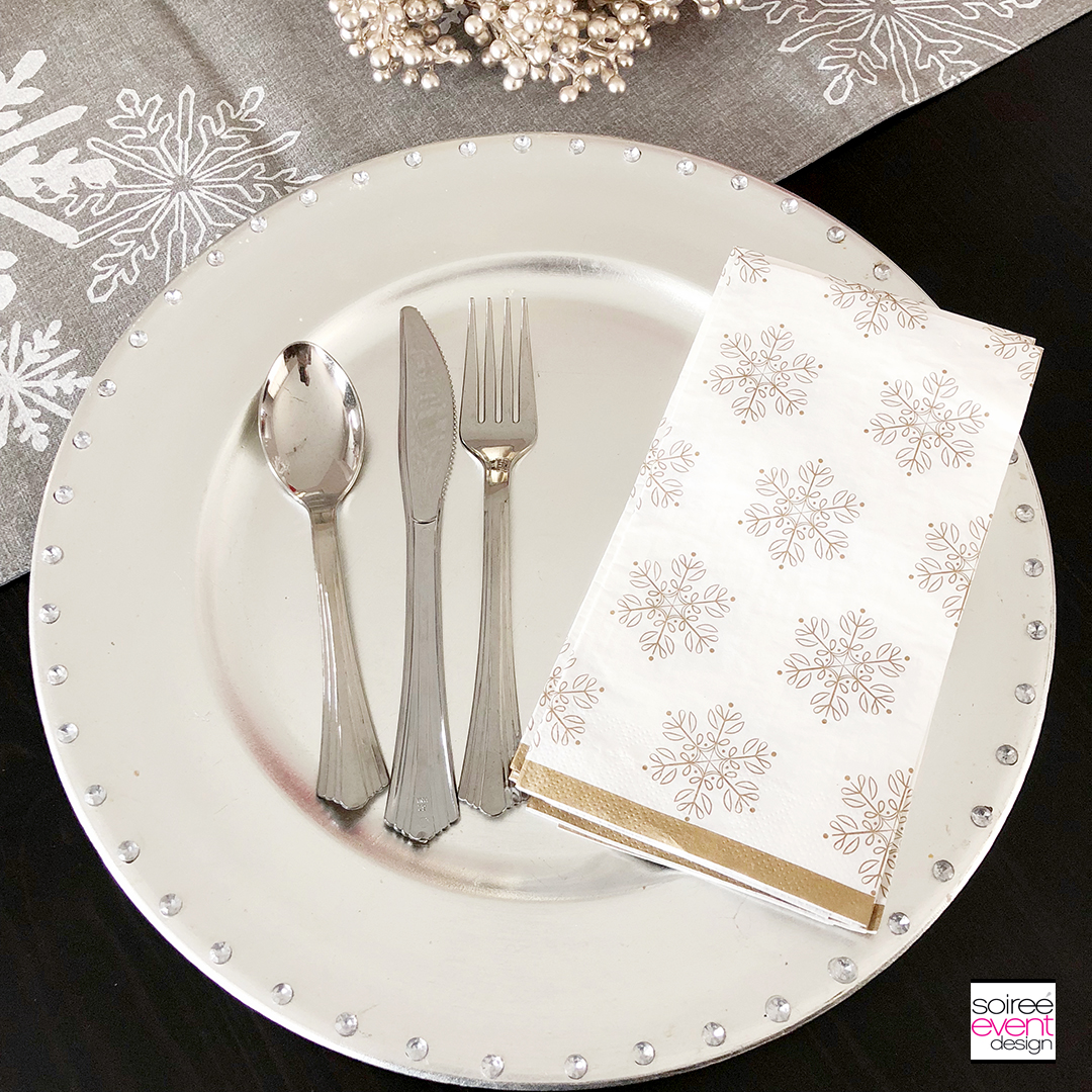 Personalized Christmas Tablescape - plates