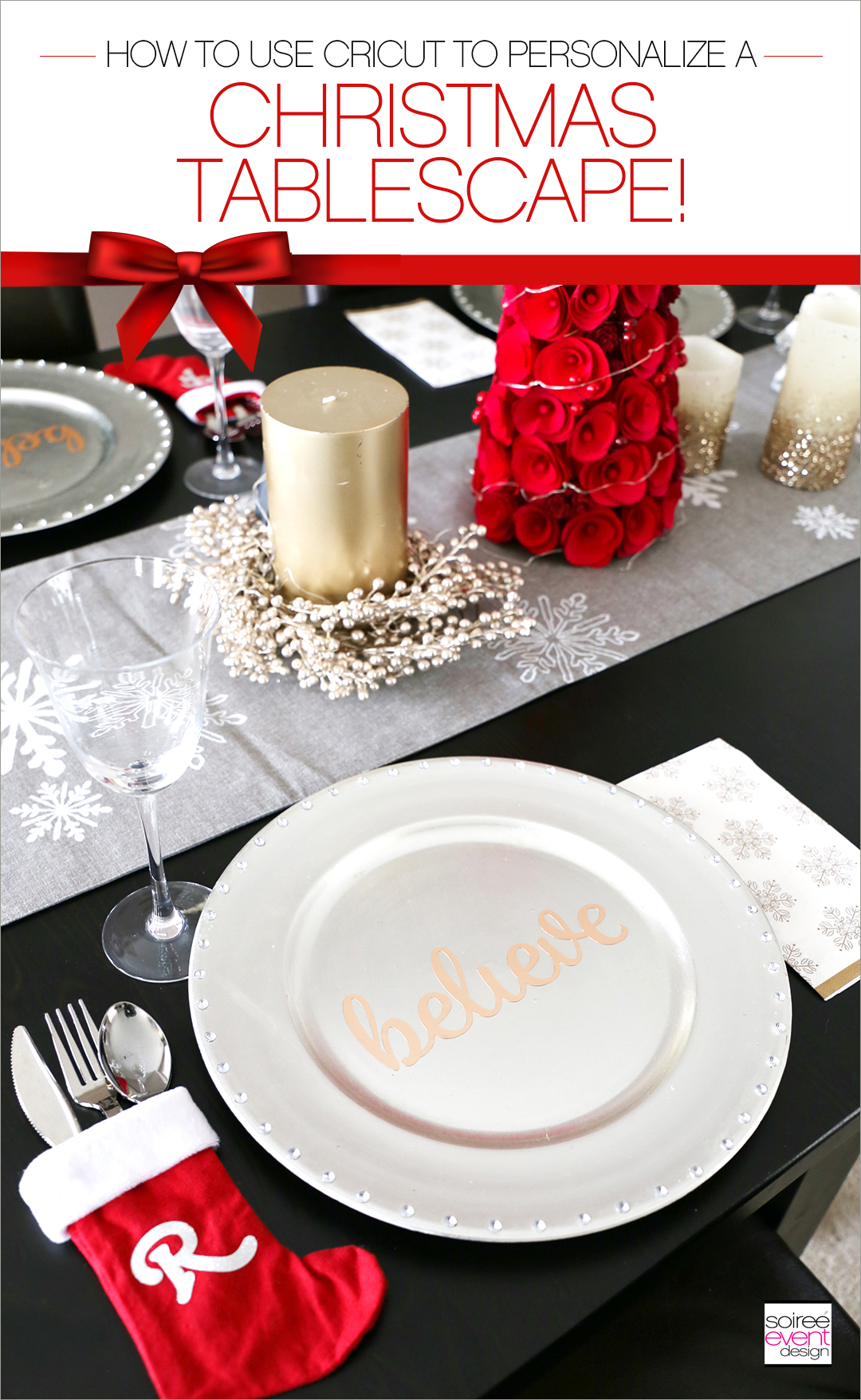 Personalized Christmas Tablescape with CRICUT
