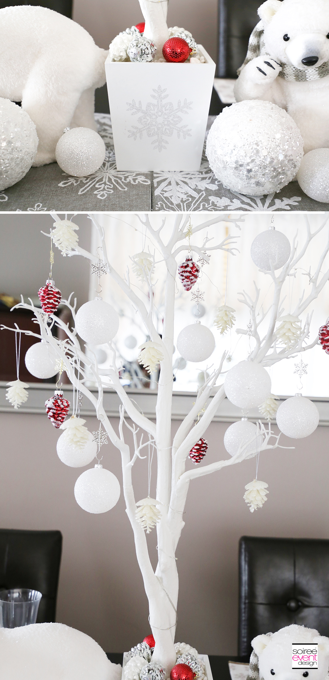 Personalized Christmas Tablescapes - White tree