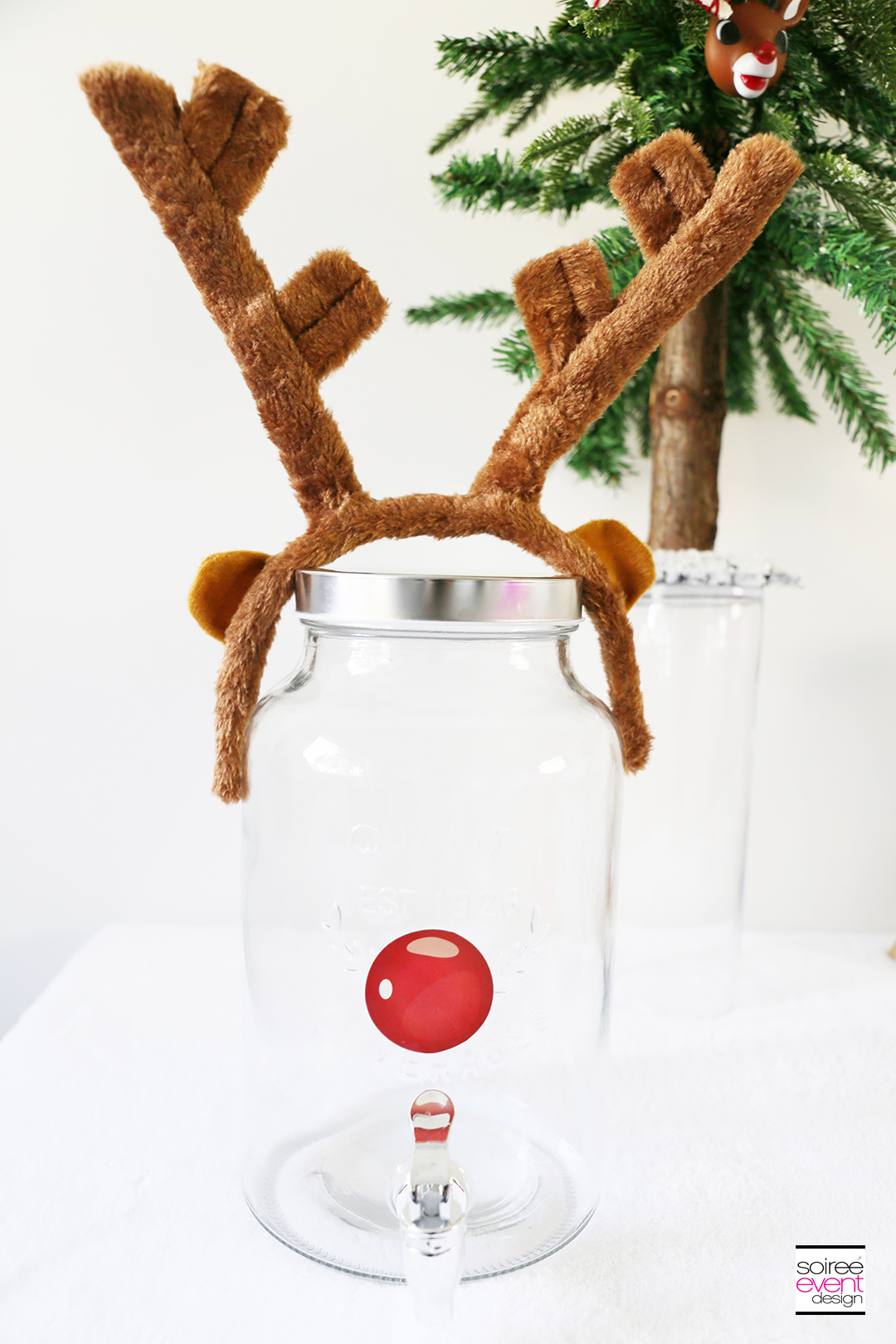 Rudolph Party Drink Station - Rudolph Drink Dispenser