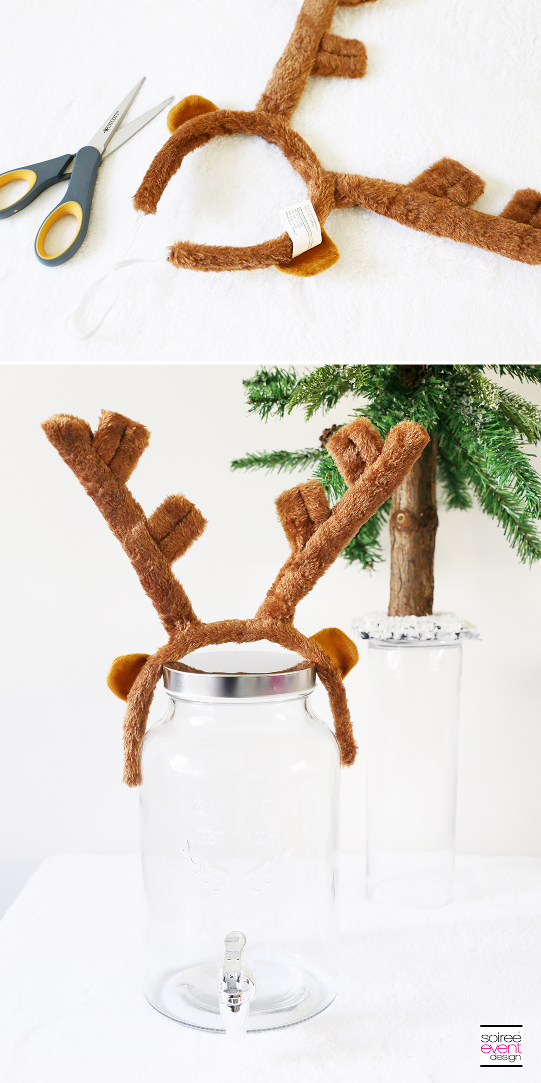 Rudolph Party Drink Station - Step 1