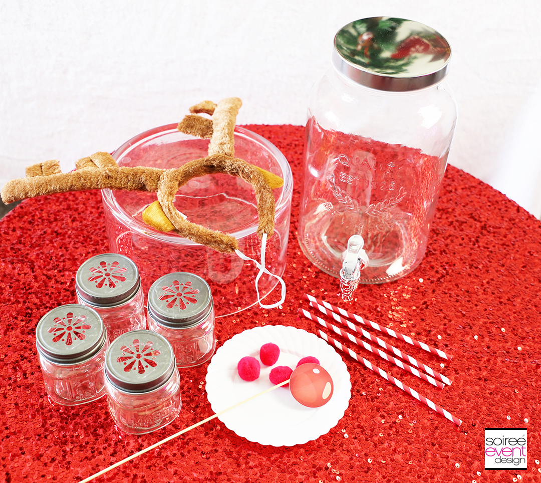 Rudolph Party Drink Station - Supplies
