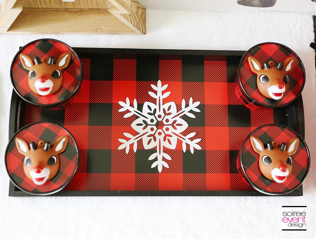 Rudolph Party Ideas - Buffalo Plaid Tray