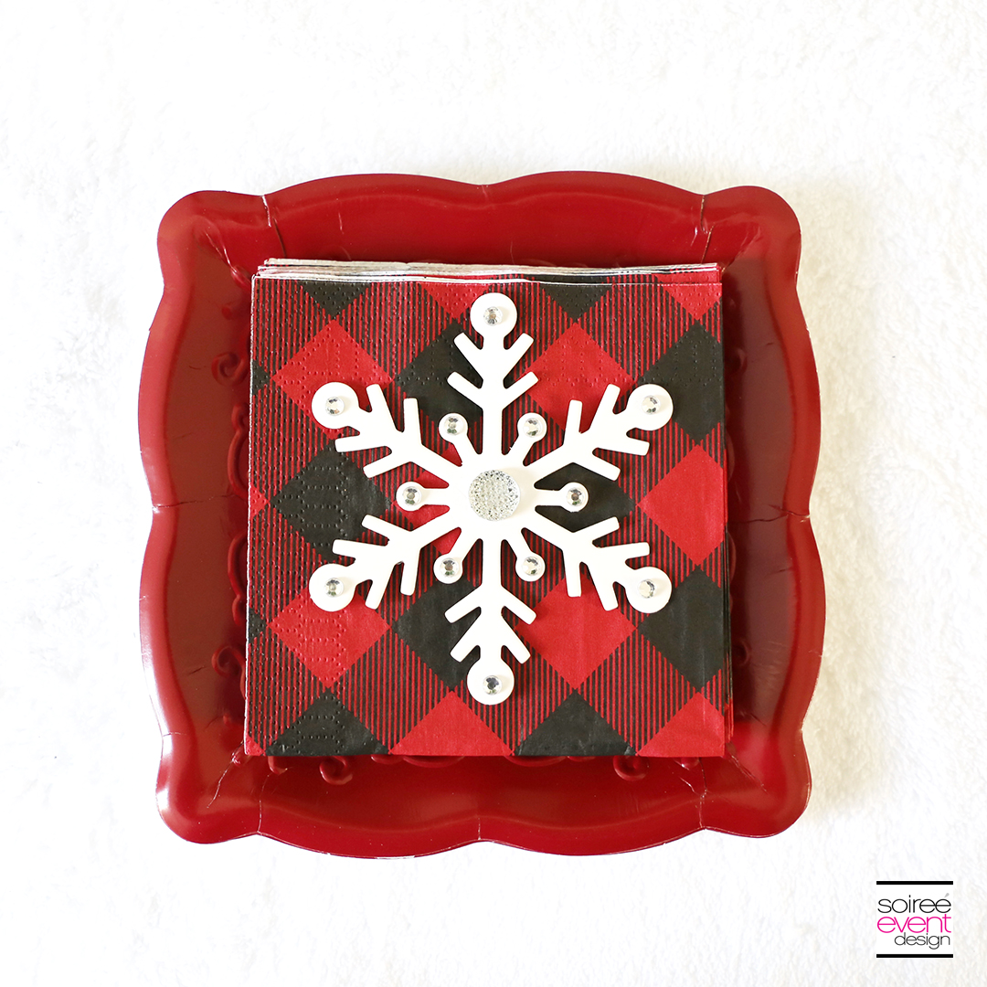 Rudolph Party Ideas - Buffalo Plaid napkins