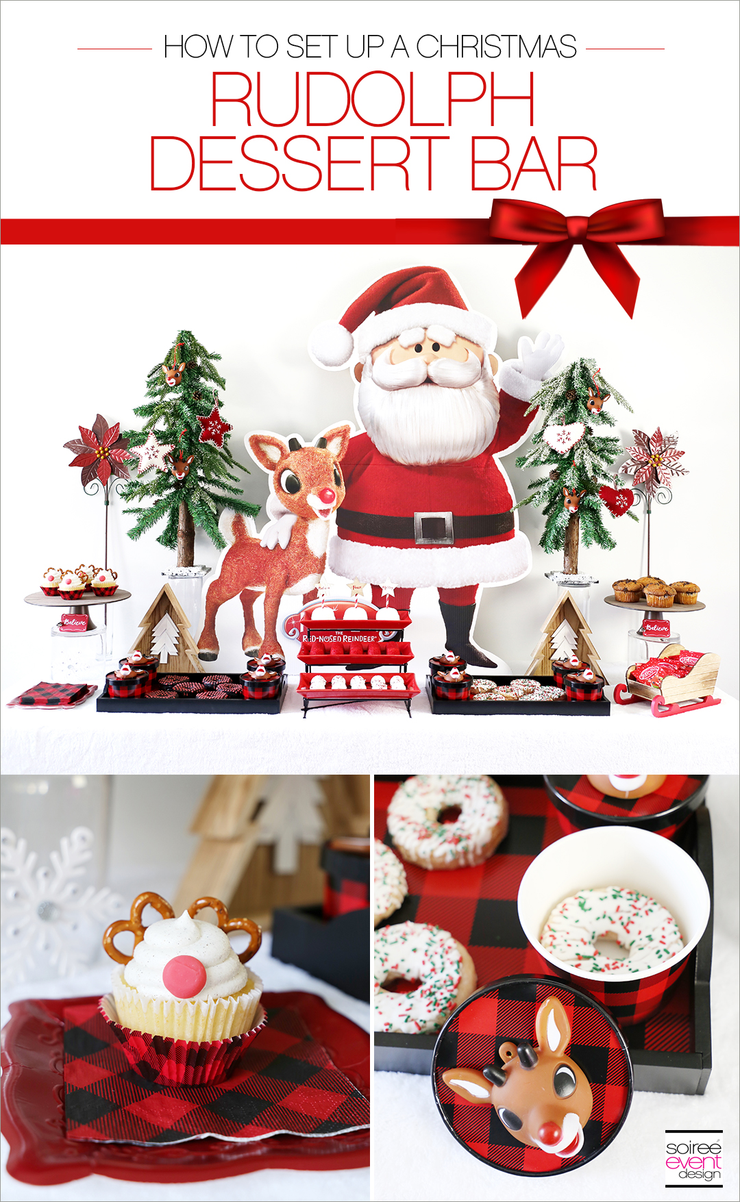 Rudolph Party Ideas - Rudolph Dessert Table