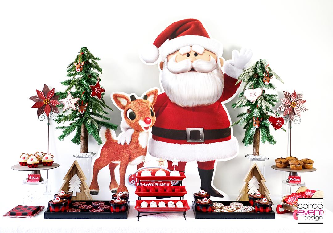 Rudolph Party Ideas - Table Backdrop