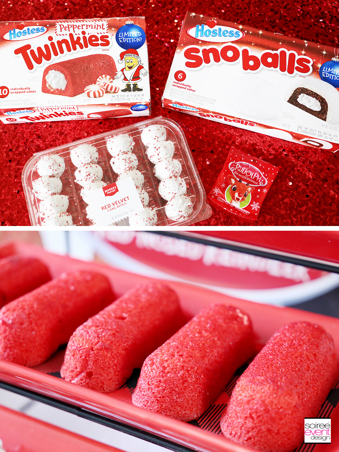 Rudolph Party Ideas - red and white desserts