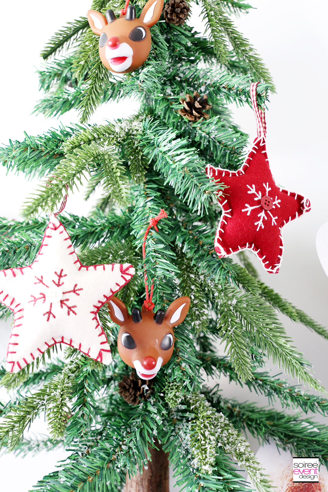 Rudolph Party Ideas - tree decorations