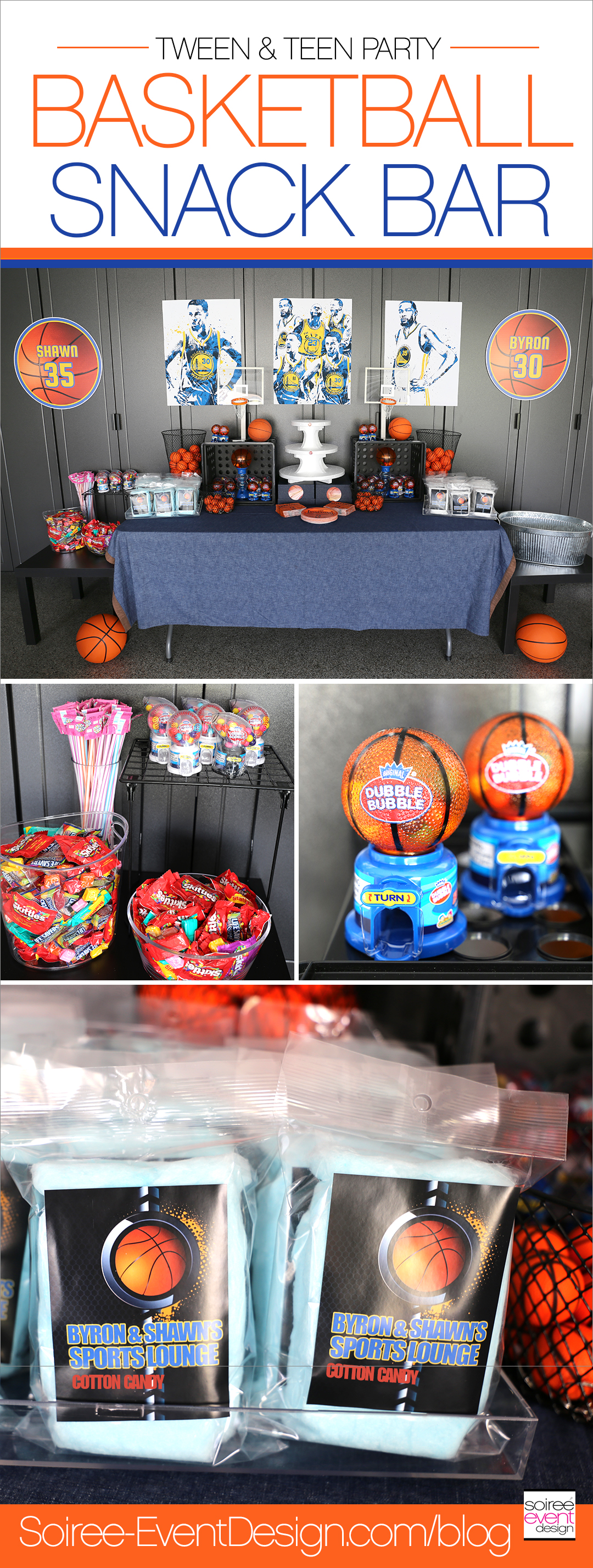 Basketball Party Ideas - Basketball Snack Bar