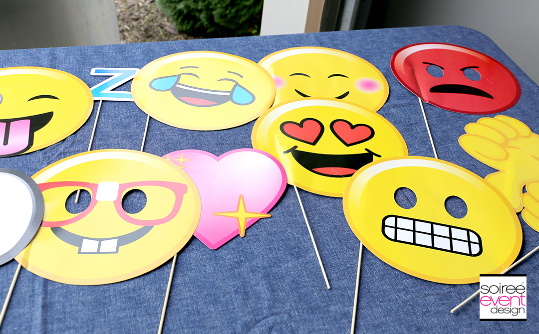 Basketball Party Ideas - Emoji Photo Booth Props