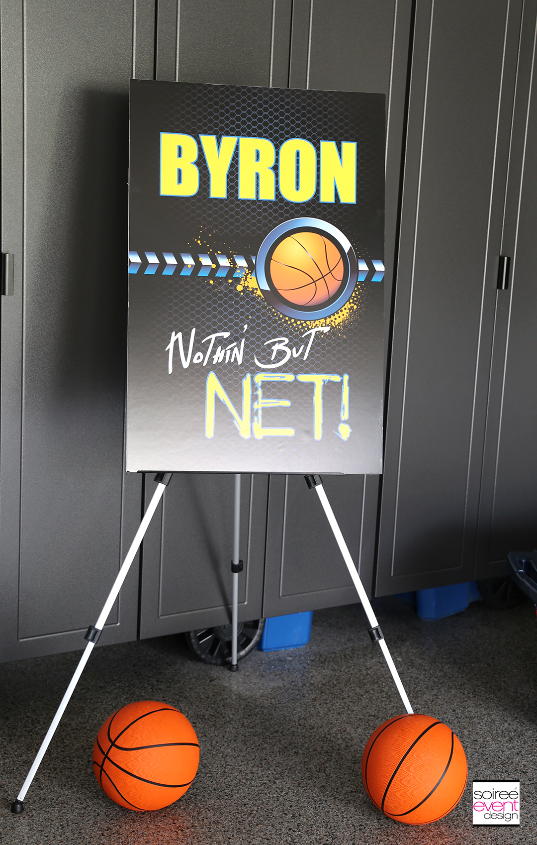 Basketball Party Ideas - Personalized Signs