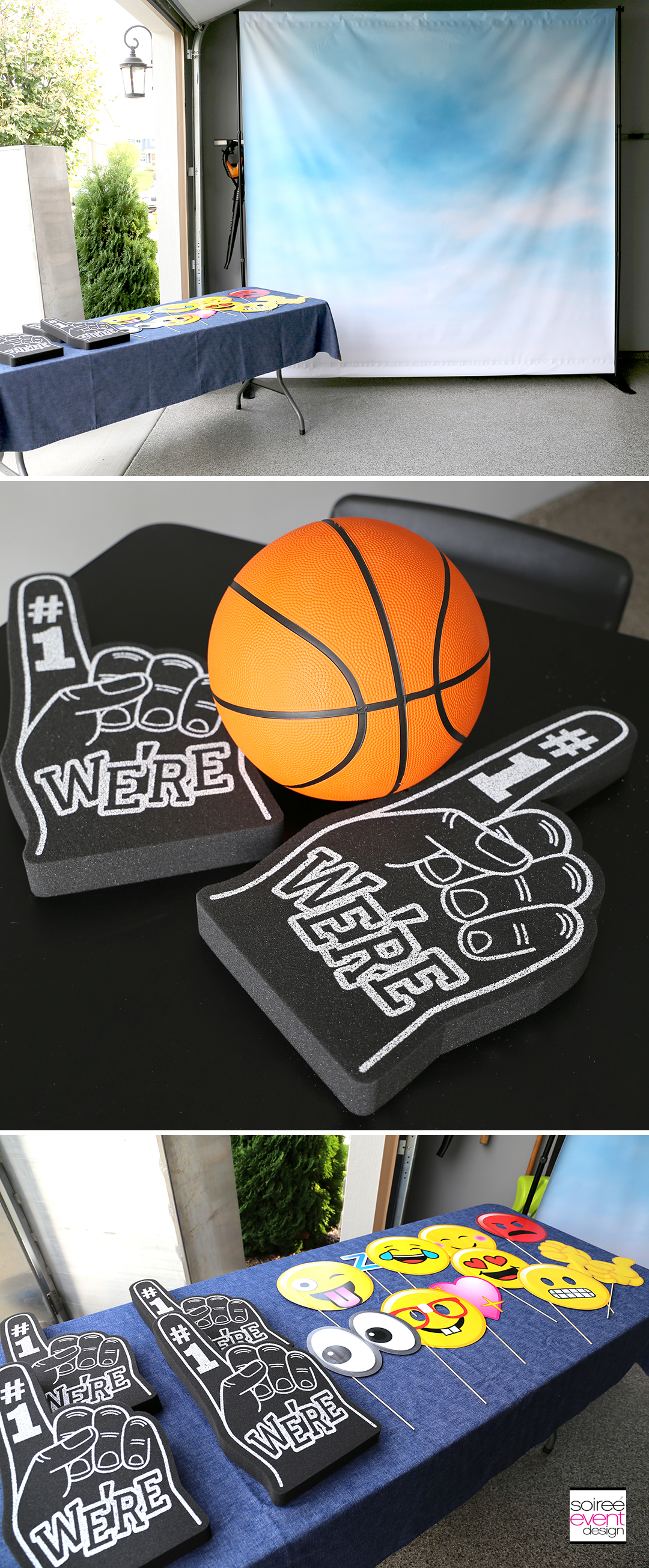 Basketball Party Ideas - Photo Booth Props