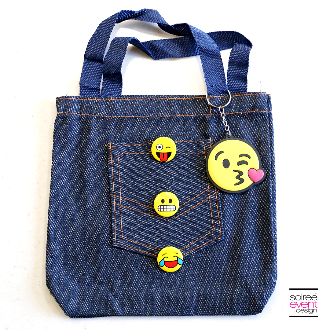 DIY Emoji Denim Tote Bag 1