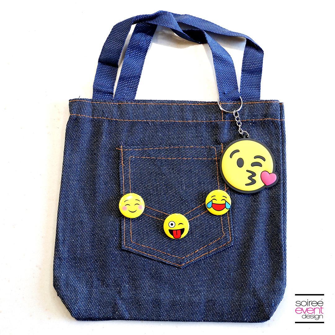 DIY Emoji Denim Tote Bag 3