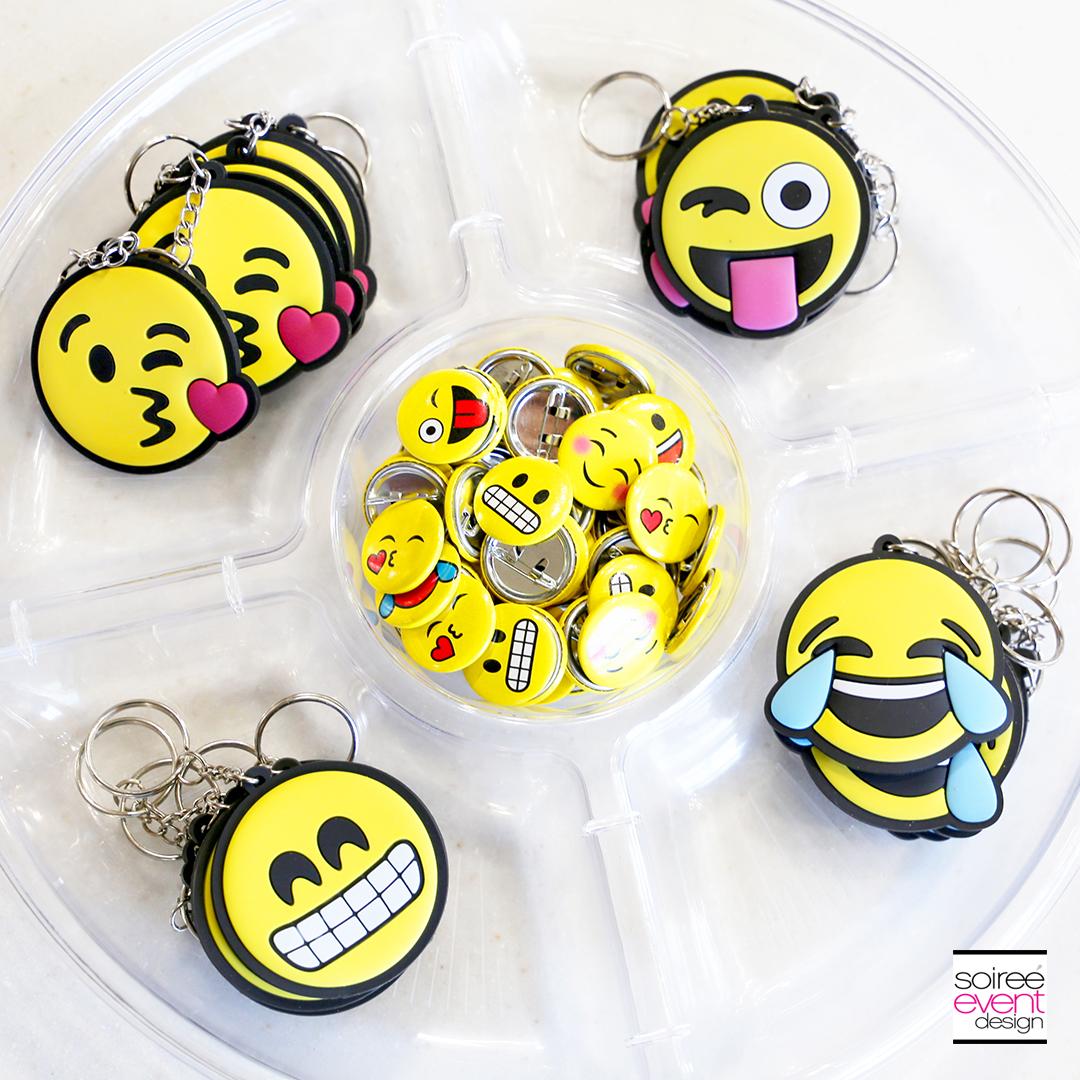 DIY Emoji Denim Tote Bag Emoji Keychains