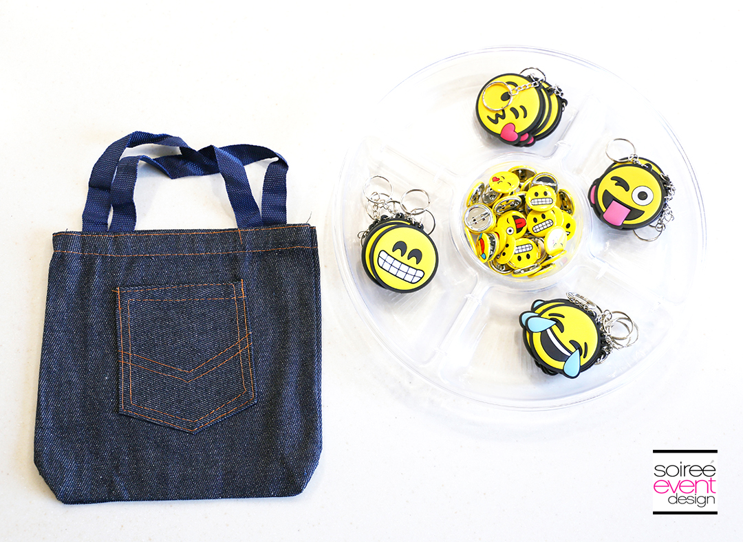 DIY Emoji Denim Tote Bag Supplies