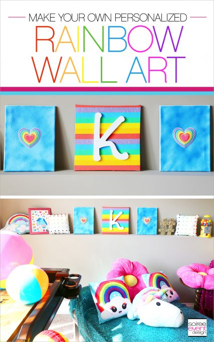 DIY Personalized Rainbow Wall Art