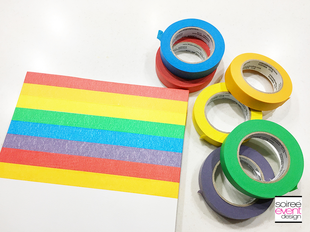 DIY Rainbow Wall Art - Step 2