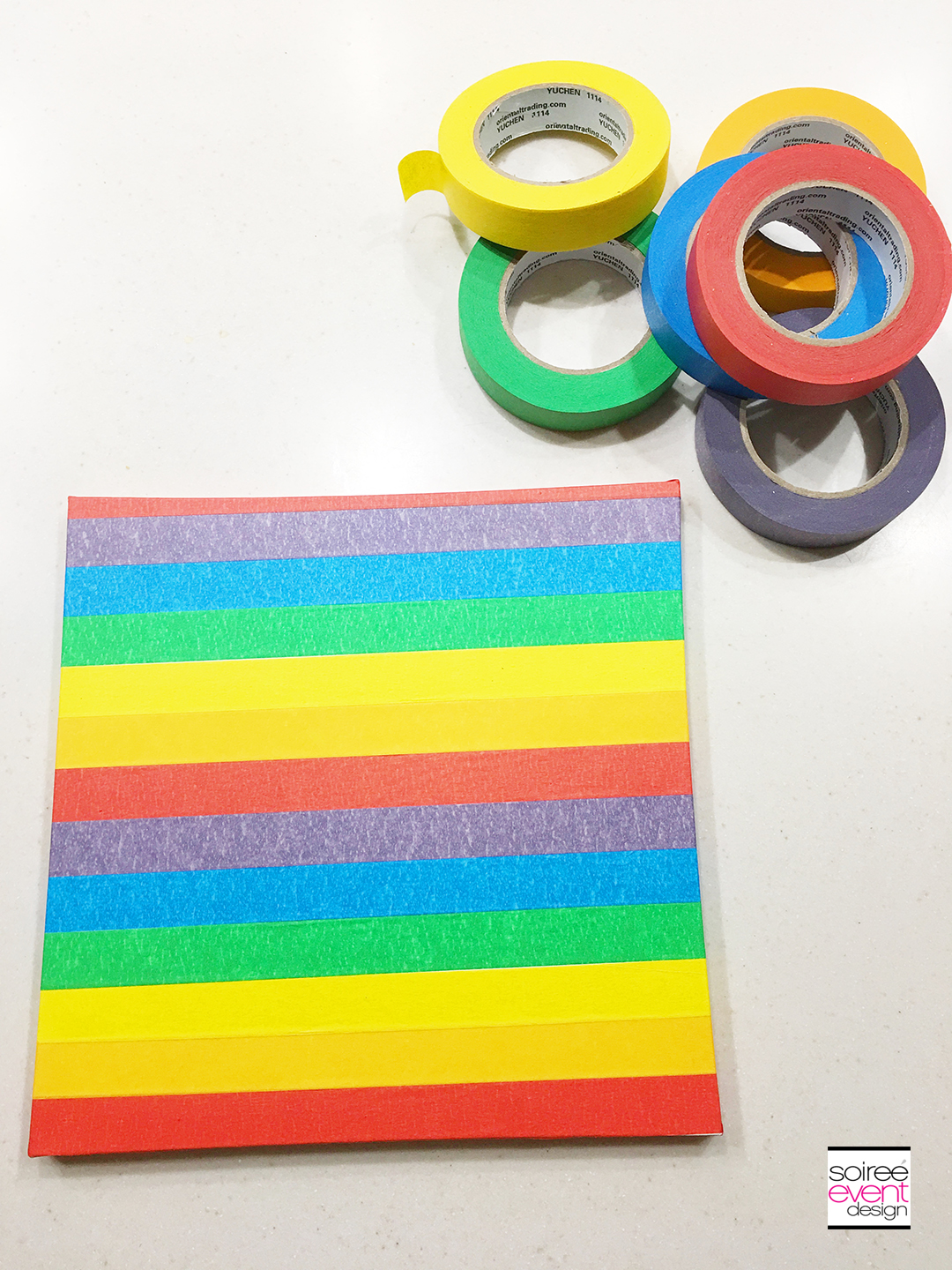 DIY Rainbow Wall Art - Step 2A