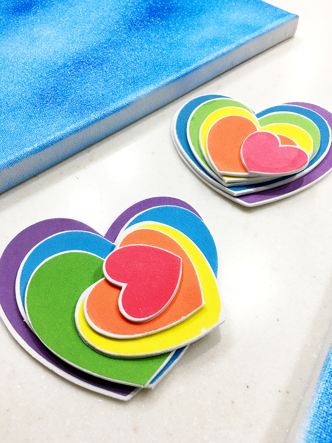 DIY Rainbow Wall Art - Step 3