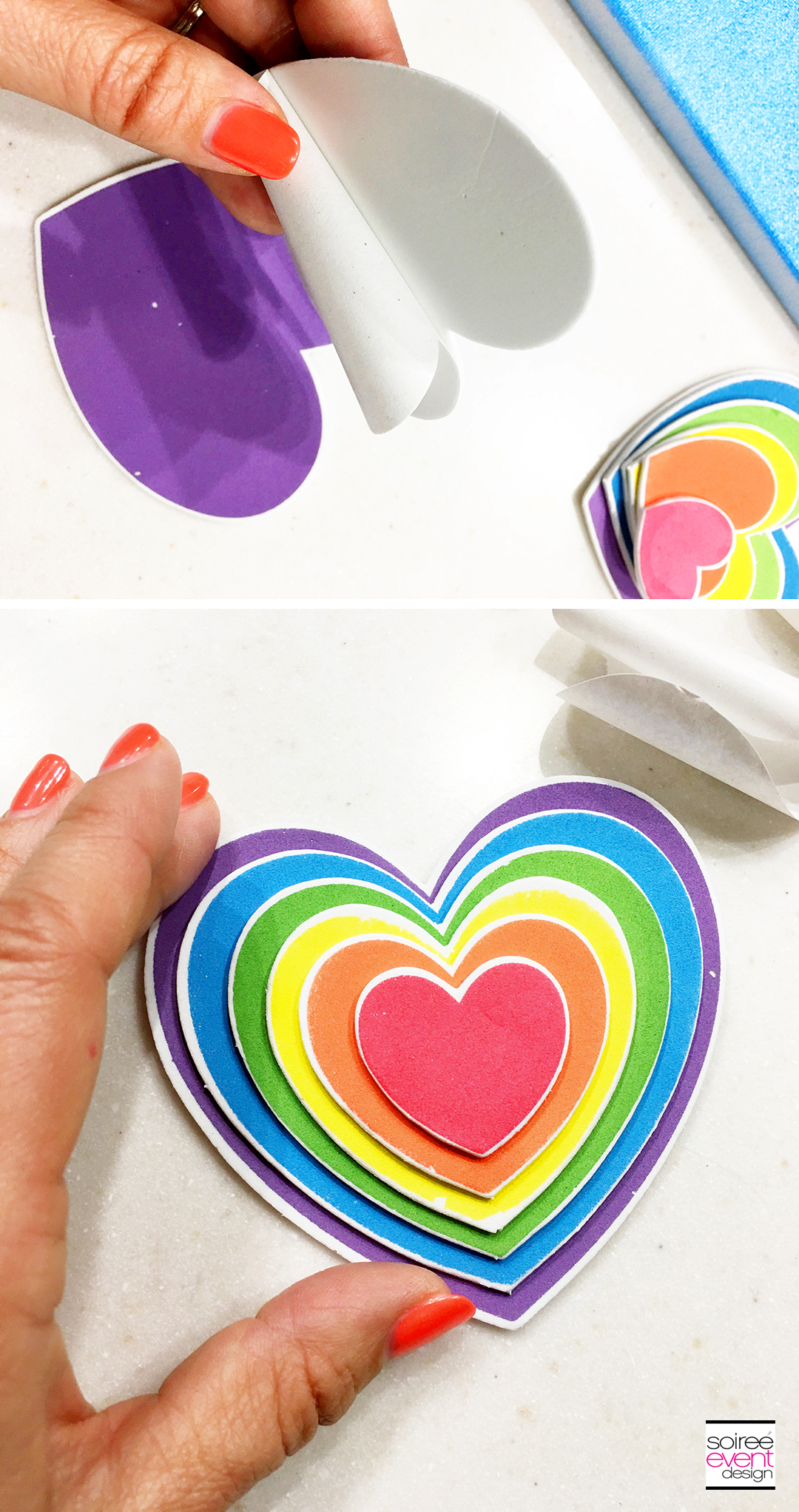 DIY Rainbow Wall Art - Step 3A